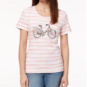 Karen Scott Bike embellished top